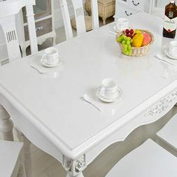 Pvc Table Cover Tablecloth Transparent Top Wedding Home Hote