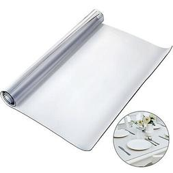 """PVC Tablecloth Protector Table Cover 46"""" X 96"""" Desk Pad Soft"""