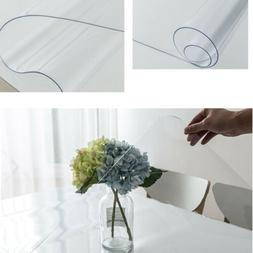 Table Cloth PVC Transparent Table Protector Cover Clear Wate