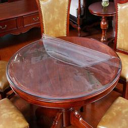 PVC Waterproof Tablecloth Round Transparent Table Cover Kitc
