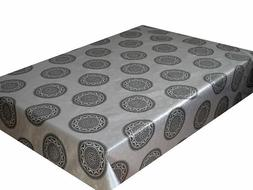 PVC WIPE CLEAN TABLECLOTH OILCLOTH VINYL TABLE COVER PROTECT