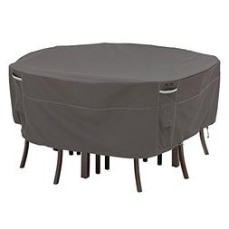 Classic Accessories Ravenna Large Round Patio Table and Chai