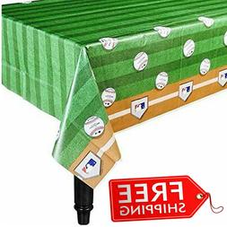 Plastic Table Cover 54 x 102 in Rawlings Baseball MLB Indoor