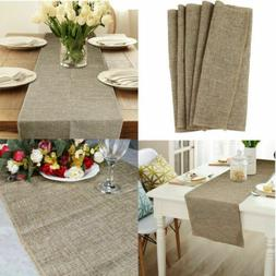 Rectangle Burlap Table Cover Tablecloth Fabric Linen Cloth H
