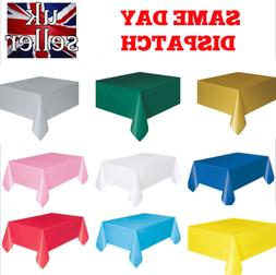 Rectangle Disposable Plastic Table covers Wipe Clean Party T