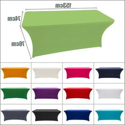 Rectangle Elastic Tablecloth Table Cover for Banquet Wedding