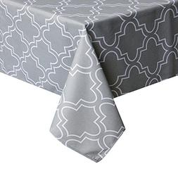 Eforcurtain Rectangle Geometric Floral Print Tablecloth Poly