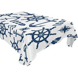 ALIREA Rectangle Marine Nautical Pattern With Blue Items Tab