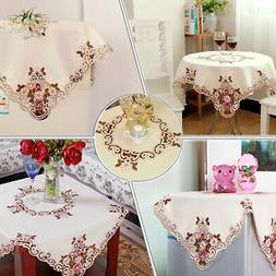 Rectangle/Square Tablecloth Kitchen Embroider Table Cloth Di