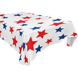 My Little Nest Rectangle Tablecloth Red White Blue Stars Was