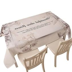 Rectangle Tablecloth Simple Style Coffee Table Linen Picnic