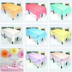 Plastic Table Cloth Colour Rectangle Cover For Wedding Birth