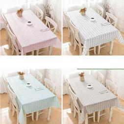 Rectangle Tablecloth Table Cover Grid Party Theme Meeting Pi