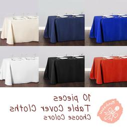 Rectangle Tablecloth Table Cover Party Wedding Linen Colors