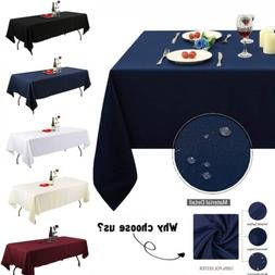Rectangle Tablecloth Water Resistance Polyester Table Cover