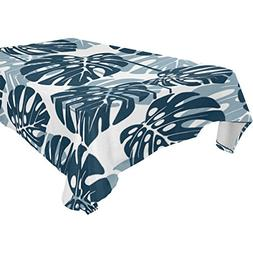 ALIREA Rectangle Tropical Leaf Pattern Tablecloth for Weddin