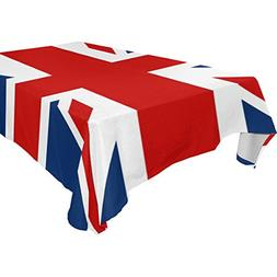 ALIREA Rectangle UK British Flag Tablecloth for Wedding Part