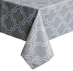 rectangular microfiber moroccan quatrefoil tablecloth