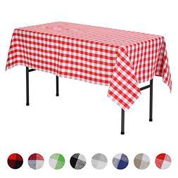 VEEYOO Rectangular Plaid Check Tablecloth Gingham 100% Cotto