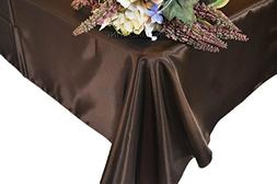 "Wedding Linens Inc. 54"" x 108"" Rectangular Seamless satin ta"