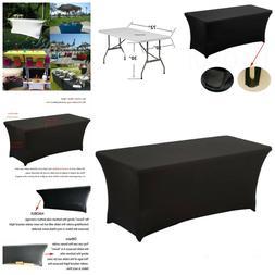Rectangular Spandex Table Cover Tablecloth Durable Kitchen O