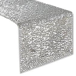 PONY DANCE Rectangular Sparkling Sequins Table Runner Party/