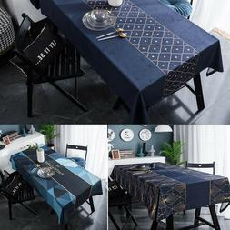 Rectangular Square Table Cloth Cover Kitchen Dining Room Hot