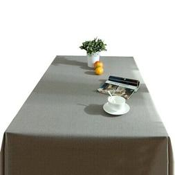 Rectangular/Square Tablecloth Dining Room Table Cover Pure C