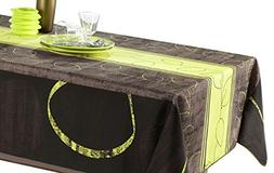 My Jolie Home - 60 x 95-Inch - Black Brown Modern Green Rect