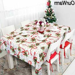 Rectangular Table Cloth Merry Christmas Kitchen Dining Table