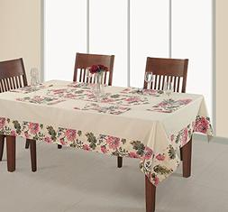 ShalinIndia Rectangular Table Cover 60x102 Inch,Printed And