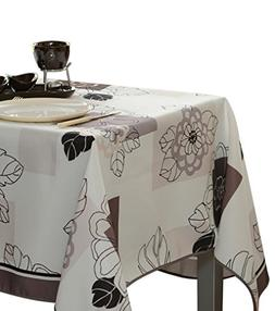 60 x 95-Inch Rectangular Tablecloth Ivory White Floral Bloss