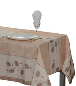 My Jolie Home 60 x 138-Inch Rectangular Tablecloth, Beige Le
