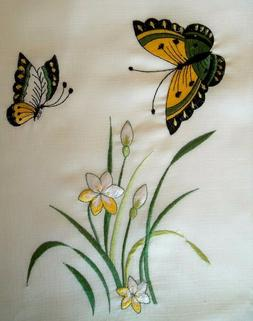 Rectangular Tablecloth Vibrant Butterfly Dining Table Cover