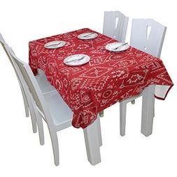 BAIHUISHOP Red Bandana Floral Print Tablecloth Rectangular P