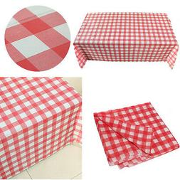 Gingham Plastic Temporary Disposable Check Table Cover Cloth