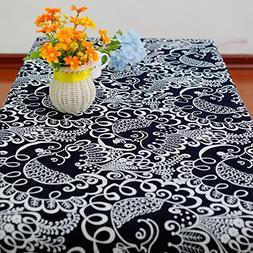 Retro cover cotton and linen table cloth napkins , 140*220cm