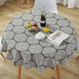 2019 Home Kitchen Table Cover Party Tablecloth Round Cotton