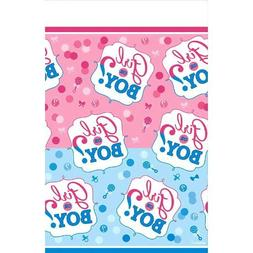 Amscam 1 Count Reveal Party Girl Or Boy? Plastic Table Cover