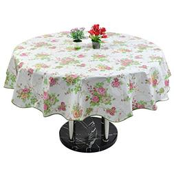uxcell Seamless Stain Water Resistant Vinyl Round Tablecloth