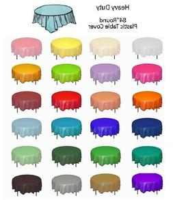 """Round 84"""" Plastic Table Cover Birthday Wedding Party Supplie"""