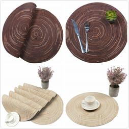 Round Braided Placemats Washable Kitchen Insulation Table Co