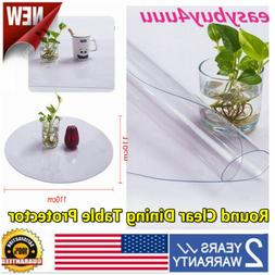 Round Clear Plastic Dining Table Protector PVC Tablecloth Co
