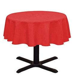 LinenTablecloth Round Cotton Feel Tablecloth, 51-Inch, Red
