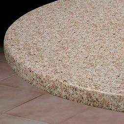 Round Elasticized Tablecloth Table Cover Granite Vinyl Fitte