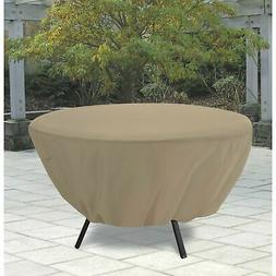 round patio table cover tan 58202