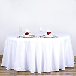 120 In. Round Polyester Tablecloth White