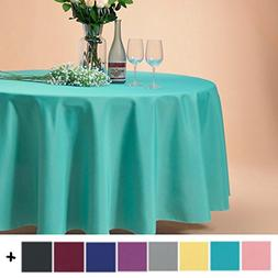 Remedios 120-inch Round Polyester Tablecloth Table Cover - W