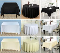 Round Rectangle Tablecloth Cover Wedding Party Polyester Tab