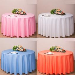 Round Satin Tablecloth Table Cover for Wedding Party Restaur